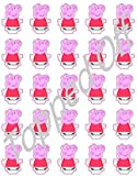 25 Peppa Pig stand up edible cup cake topper decorations by Topped Off (FREE UK SHIPPING)