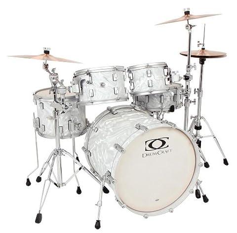 Drum Craft Series 7 DC807152 Fusion Birch 20-Inch Drum Set Shell Pack, Liquid Chrome