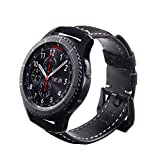 Javpoo Zubehör Armbänder kompatibel Samsung Gear S3, Ersatz-Bands Leder Armbanduhr Band Gurt kompatibel Samsung Gear S3 Smartwatch