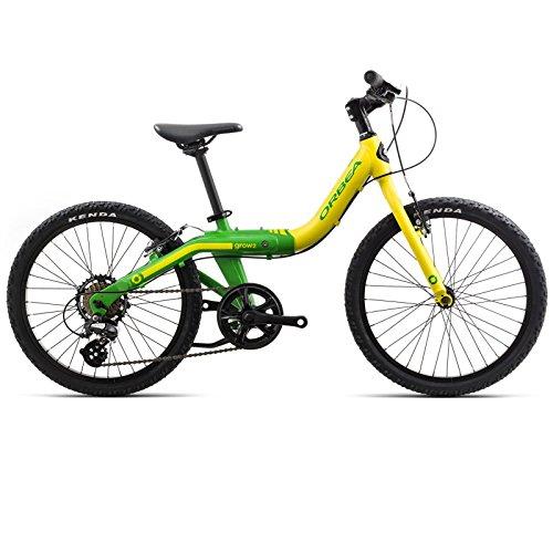 ORBEA Grow 2 7V Kinder Fahrrad 20 Zoll 7 Gang Bike Aluminium Mitwachsend Größenverstellbar Jugend Rad, I005, Farbe Gelb/Grün