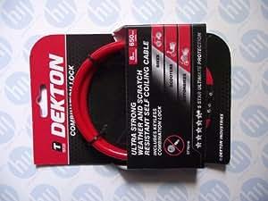 Dekton DT70310 COMBINATION BIKE LOCK 3MM X 650MM 1 Red