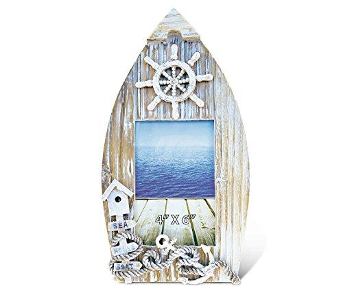 Preisvergleich Produktbild Verwirrt, Baja Boot Bilderrahmen 10,2x 15,2cm Maritimes Dekor Holz Handarbeit–Boote Thema–Einzigartige Elegantes Geschenk und Souvenir–Artikel # 9582