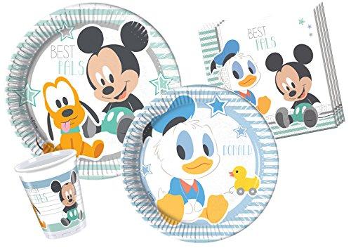 Ciao y4213–Kit-Baby Mickey & Donald für 24Personen, Hellblau/weiß
