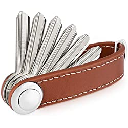 Sinwind Compacto Llavero y Organizador | Organizador de Llaves | Key Organizer (Marrón)