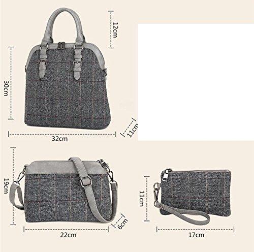 X&L 2016 Damen drei-Eltern Kind mit der Tasche Tasche Schulter Diagonal eingestellt Black