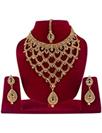 Bridal Gold Plated Necklace Set Jewellery For Women / Jewellery Set For Wedding Party Sets