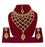 #6: BAAL Bridal Necklace Set With Earrings & Maang Tikka Jewellery Set For Women