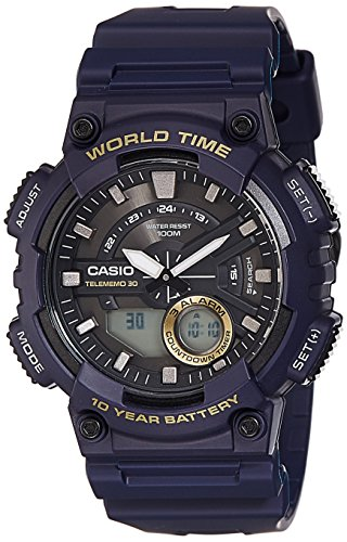 Casio Youth - Combination Analog-Digital Black Dial Men's Watch - AEQ-110W-2AVDF(AD208)