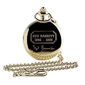 SYD-BARRETT-PINK-FLOYD-unterzeichnet-Gold-Taschenuhr-24-Karat-Gold-beschichtet-Full-Hunter-mit-Kette-Luxus-Geschenk-Fall