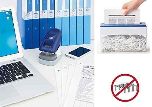 PLUS Japan, Staple-Free Stapler Desktop Model Blue, 10 sheet capacity, 1 piece pack (1 x 1 Stapler) Img 4 Zoom