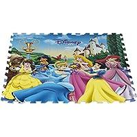 ColorBaby - Alfombra Puzzle goma Princesas DISNEY - 9 piezas - 90x90 cm (48056)