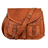 Vintage Crossbody Shoulder Handbag for Ipad | Spacious genuine Leather Bag with many pockets | Handmade Travel Satchel Women brown crossbody Purse