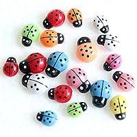 Bibabo25 100Pcs Colorful Mini 3D Wall Stickers Home Decor DIY Ladybird Ladybug Kid Toys