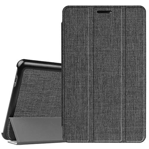 Fintie Huawei Mediapad T3 8 Hülle Case - Ultra Dünn Superleicht SlimShell Ständer Cover Schutzhülle Tasche mit Zwei Einstellbarem Standfunktion für Huawei T3 20,3 cm (8,0 Zoll), Denim dunkelgrau