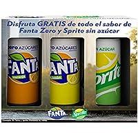 Set Regalo de 3 Latas de 330 ml de Fanta Limon Zero, Fanta Naranja Zero y Sprite Zero - Total: 0.99 L