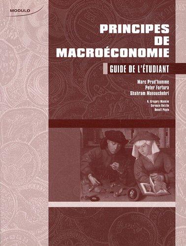 Principes de macroéconomie : Guide de l'étudiant