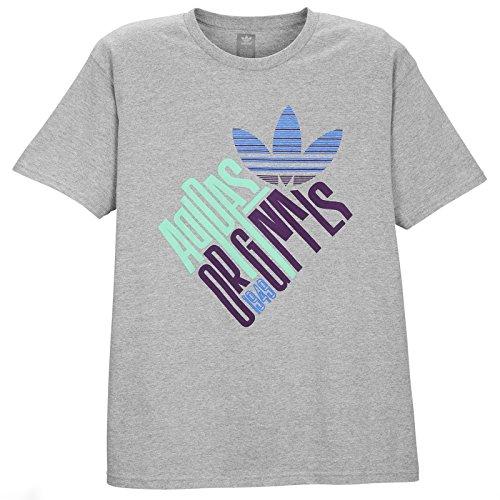 Preisvergleich Produktbild adidas Herren Tilted T-Shirt Medium Grey Blue Purple