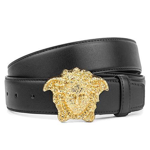 Cinturón De Cuero Marca para Hombre con Cabeza De Serpiente Cinturón De Cuero Nuevo Cinturón con Forma De Medusa, Z4,110Cm