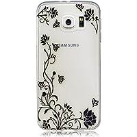 Samsung Galaxy S6 Funda carcasa / caso / case, LTWS TPU Carcasa Suave Silicona Flexible Gel Funda Resistente a los Arañazos Tapa Protectora Case Cover para Samsung Galaxy S6 -Black Rattan