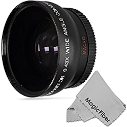 52MM Vivitar 0.43X Wide Angle High Definition Lens with Macro for NIKON D5300 D5200 D5100 D5000 D3300 D3200 D3100 D3000 D7100 D7000 DSLR Cameras + Premium MagicFiber Microfiber Lens Cleaning Cloth
