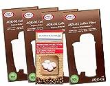 Human-Wellness 4 x Wasserfilter AQK-02 ersetzt Brita Intenza+ Saeco CA6702/00 *Qualität* Brita ® Intenza+ für Saeco/Philips / Gaggia Kaffeemaschine - Kaffeevollautomat + 10 Reinigungstabs