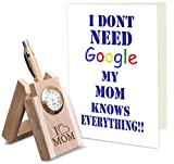 #8: TiedRibbons Mothers day special gift Wooden Penstand with Greeting Card