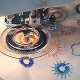 veewon multifunción bordado Daisy Flores punto de máquina de coser Presser Soporte para hermano, silueta, Baby Lock, Janome, Kenmore