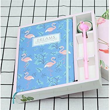 Exercice Cartoon Flamingos Notebooks Journal personnel Carnets et revues Carnets de papier pour les cadeaux de l'école de bureau (bleu) pour le bureau B07GBQTTVX   Pour Assurer Problèmes Pendant Des Années-service Gratuit