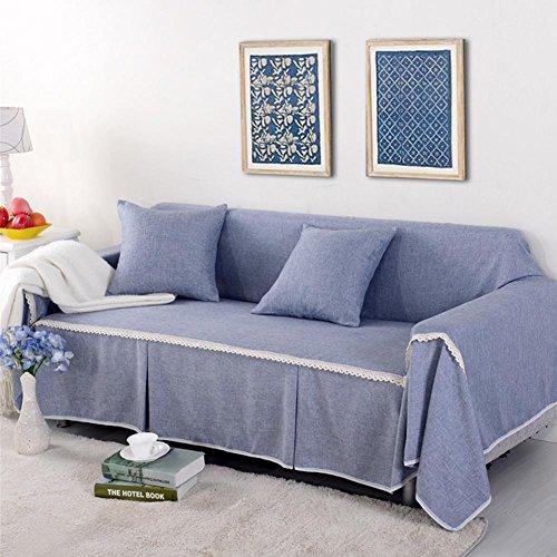 LY&HYL tessuto di lino imitazione solido Sofa Cover singolo / due / tre / quattro (Grigio Su Misura Seat Covers)