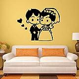 xingbuxin Adesivo da Parete per Matrimoni Decorazioni per Matrimoni Accessori per la Decorazione Domestica per Camera da Letto Adesivo da Parete Adesivo 1 XL 58cm X 44cm