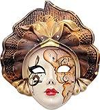 Cuadros Lifestyle Deko-Masken | 2D-Wandmaske | Venezianische Masken | Afrikanische Maske | Buddhamaske | Karneval | Wandhänger | Matt, Größe:ca. 40x40 cm
