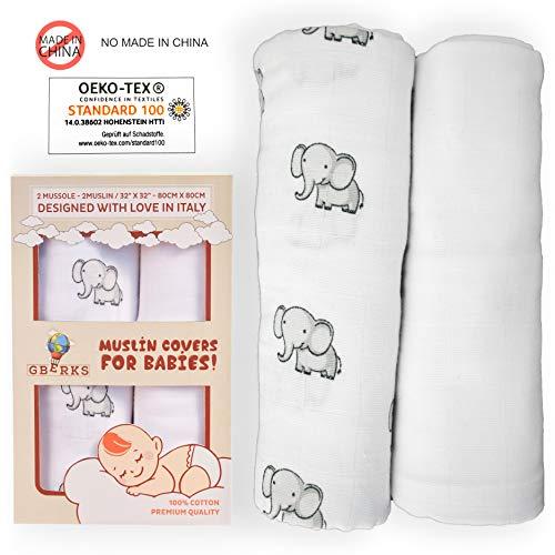 Mussole neonato baby   100% cotone   copertina neonato bebè   pacco regalo   accappatoio neonato   neonato accessori   copertine lettino bambino neonata   fascia porta bambino   idee regalo donna
