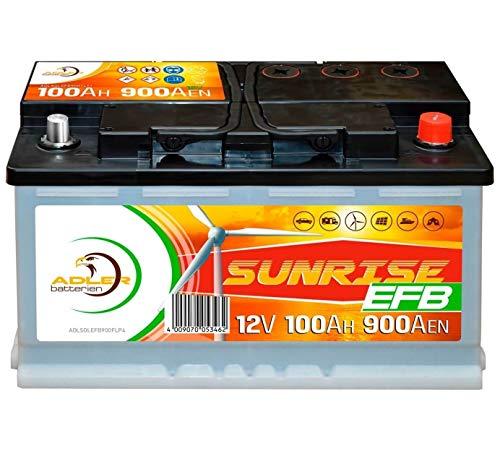Solarbatterie Adler Sunrise 12V 100Ah C100 Batterie Wohnmobil Boot Camping Solar