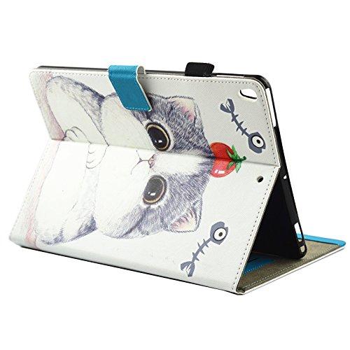 iPad IPad pro 10.5 Custodia per IPAD iPad pro 10.5 inch, inShang Smart Cover case in pelle PU, supporto per tenere L'iPad sollevato, magnetico per sleep e standby Tomato and Cat