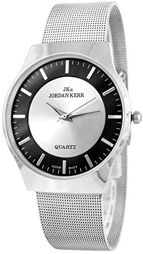Schlichte JORDAN KERR Armbanduhr für Damen nickelfrei 12- Stunden Ziffernblatt, ZJ4027B/1