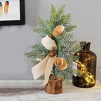 Mini cinturón artificial cinta de hoja de pino pequeño tiempo de vacaciones oficina interior hogar pequeños adornos adornos decorativos decoración del árbol de Navidad (0, 25CM)