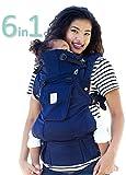 LILLEbaby ergonomische Baby-trage für Neugeborene ab Geburt 6 sichere Tragepositionen hochwertige Bio-Baumwolle Blue Moonlight