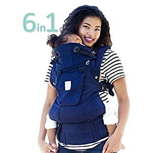 SIX-Position, 360° Ergonomic Baby & Child Carrier by LILLEbaby - The Complete Organic (Blue Moonlight)   1