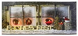 Riffelmacher Bild Frohes Fest beleuchtet 12132-30x70cm - Wunderschönes beleuchtetes Dekobild Dekoration Weihnachten