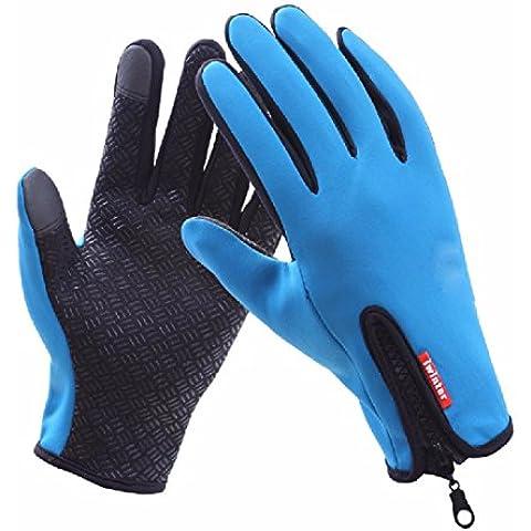 KHSKX Impermeabile touch screen guanti antivento full zip per uomini
