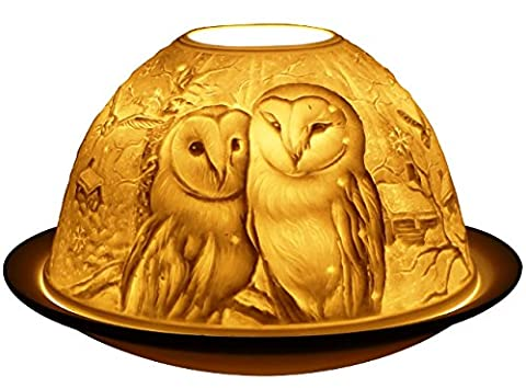 Barn Owls - Porclain Tealight Candle Holder - New Design From Light-Glow / Welino by Light - Glow By Welino