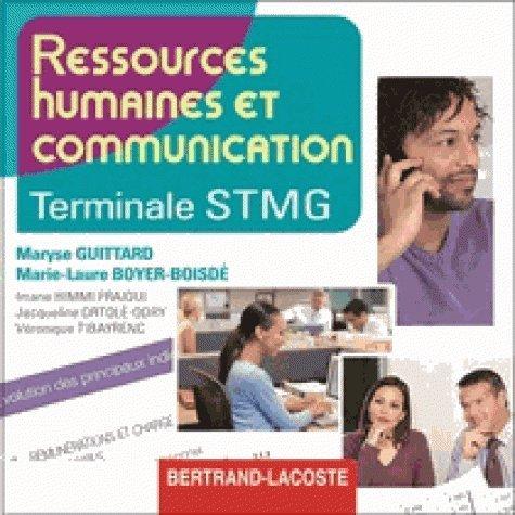 Ressources humaines et communication Terminale STMG : CD du professeur par Maryse Guittard, Marie-Laure Boyer-Boisdé