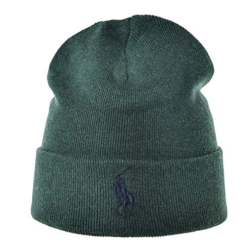 Imagen de polo ralph lauren  para hombre  beanie, logotipo de la marca, fo hat hat, talla única verde