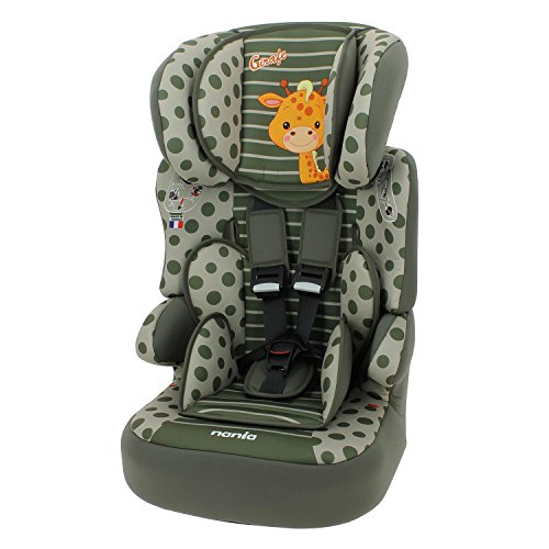 Mycarsit Kindersitz / Sitzerhöhung Gruppe 1/2/3 (9bis 36kg), hergestellt in Frankreich, 3Sterne bei TCS-Test, 4Farben, seitlicher Schutz, gepolsterte und höhenverstellbare Kopfstütze