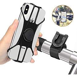 """MOSUO Support Téléphone Vélo Moto, Réglable Porte Téléphone pour Bicyclette avec Rotation 360° pour iPhone XS Max/XR/XS/X/8 Samsung Galaxy Huawei GPS et 4.0""""-6.5"""" Pouces Smartphones"""