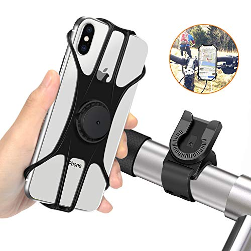 MOSUO Handyhalterung Fahrrad, Abnehmbare Motorrad Handyhalter Fahrrad Handy Halterung mit 360° Drehbar Fahrradhalterung Halter Universal für alle 4-6.5 Zoll Smartphones