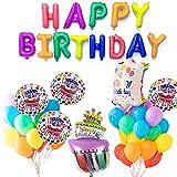 PuTwo Palloncini Compleanno 37 Pezzi Palloncini in Alluminio e Lattice Set di Decorazione di Festa di Compleanno Articoli per feste Decorazioni per feste Decorazioni di compleanno - Multi colore