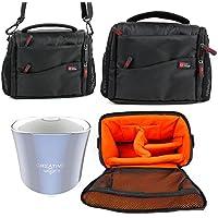 Etui housse (noir/orange) pour Creative iRoar Go, Muvo 2 & 2c, Woof 3 enceintes portables - DURAGADGET