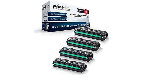 Print-Klex 4 x XXL Toner Cartridges for Samsung CLT-K506 LELS CLT ...