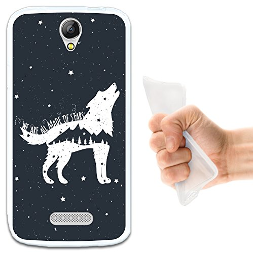WoowCase Doogee X6 - X6 Pro Hülle, Handyhülle Silikon für [ Doogee X6 - X6 Pro ] Wolfphrase: We Are All Made of Stars Handytasche Handy Cover Case Schutzhülle Flexible TPU - Transparent